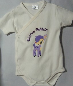"""Baby Body mit Motiv """"Kleines Rehlein"""" für Mädchen"""