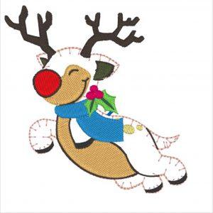 Die Applikation Hugo das fliegende Rentier als Rudolph