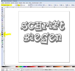 Mit Dem Brother Scan N Cut Und Inkscape Schriften Biegen