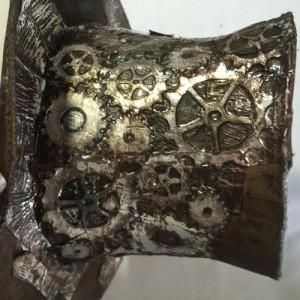 Steampunk-Leder-Zylinder - Ansicht
