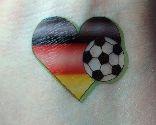 Team Deutschland Tattoo mit SILHOUETTE