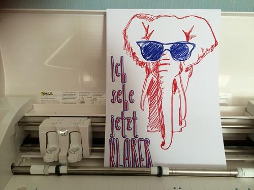 SILHOUETTE CAMEO 3 - Elefant