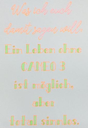 SILHOUETTE CAMEO 3 - Leben