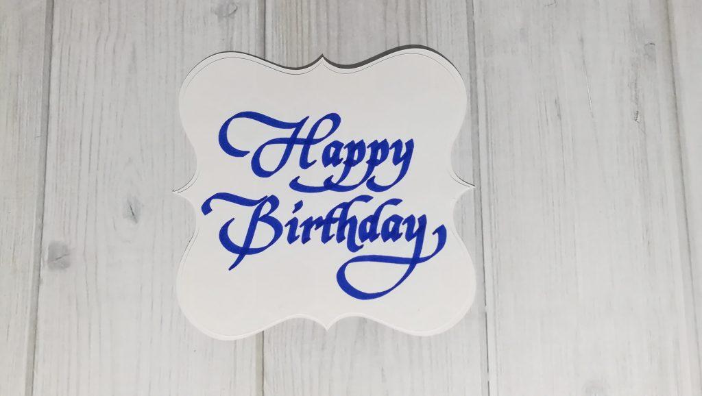 Kalligrafie - Happy Birthday