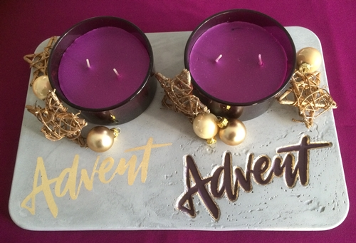 Advent, Advent im Beton-Look