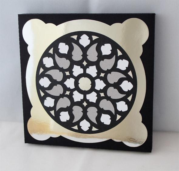 Intarsien-Bild auf Papierkeilrahmen