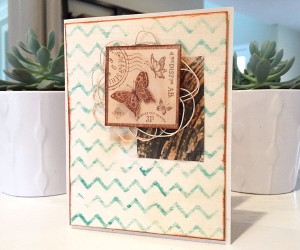Schmetterlingskarte mit Holzpapier