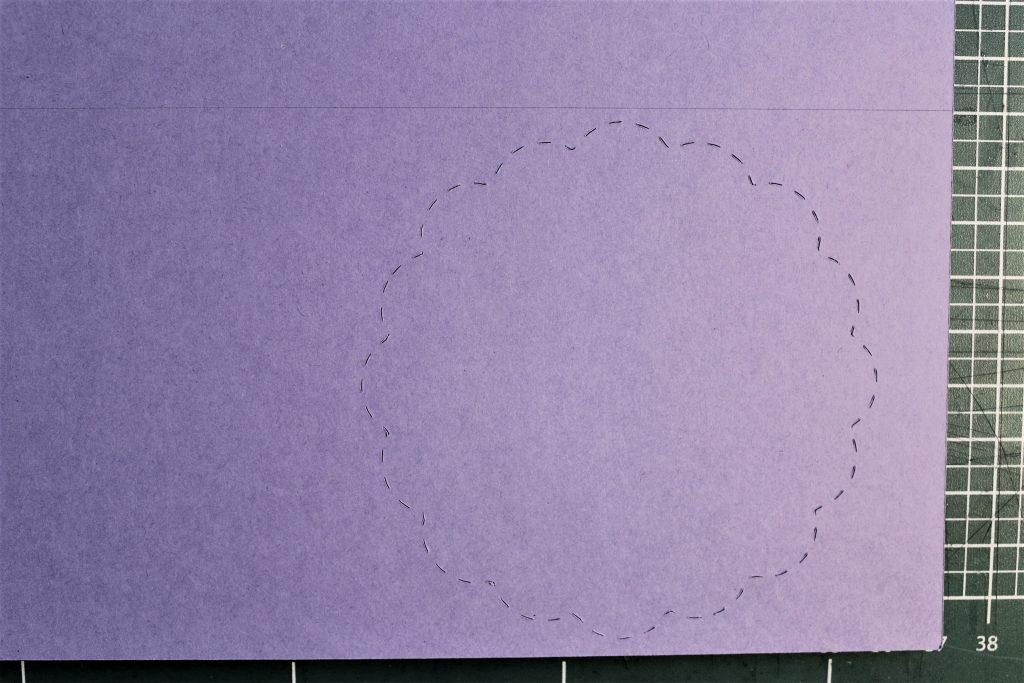 gestrichelte Offset-Linie auf der Karte