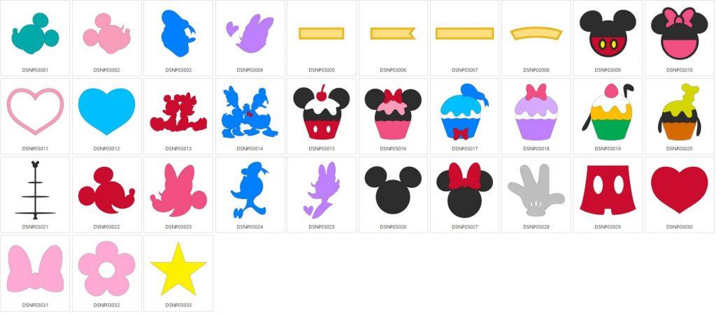Mickey & Freunde - 33 Designs