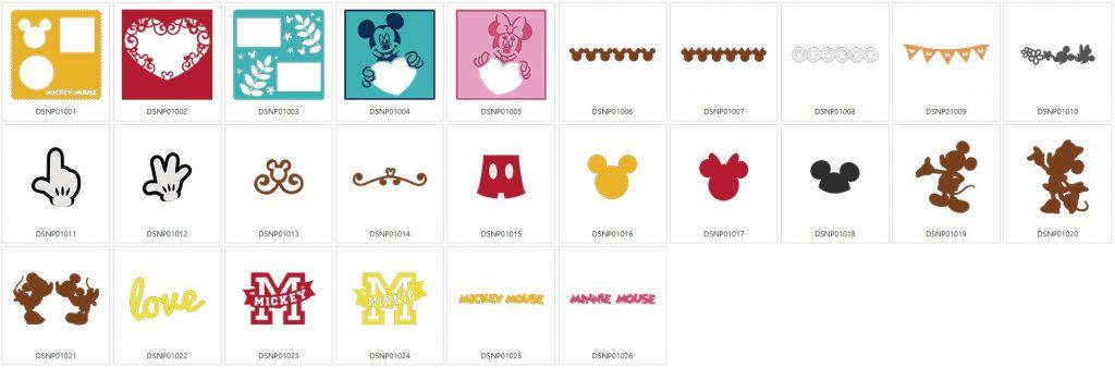 Mickey & Minni Maus - 26 Designs