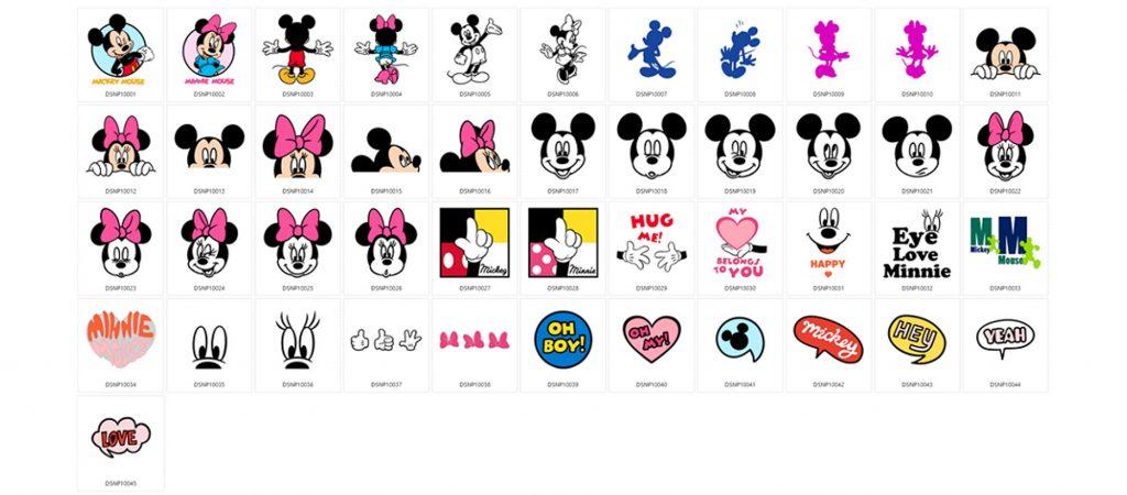 Moderne Mickey Maus und Minnie Maus - 45 Designs