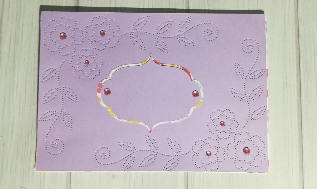 Papier Piercing Karte