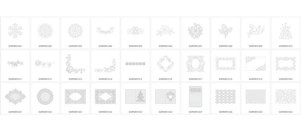 Papier Piercing Design Kollektion - 30 Designs