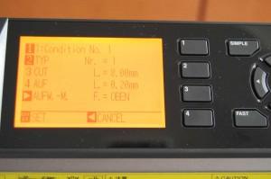 Einstellung 1 mit 8 mm Schnitt und 0,2 mm Steg