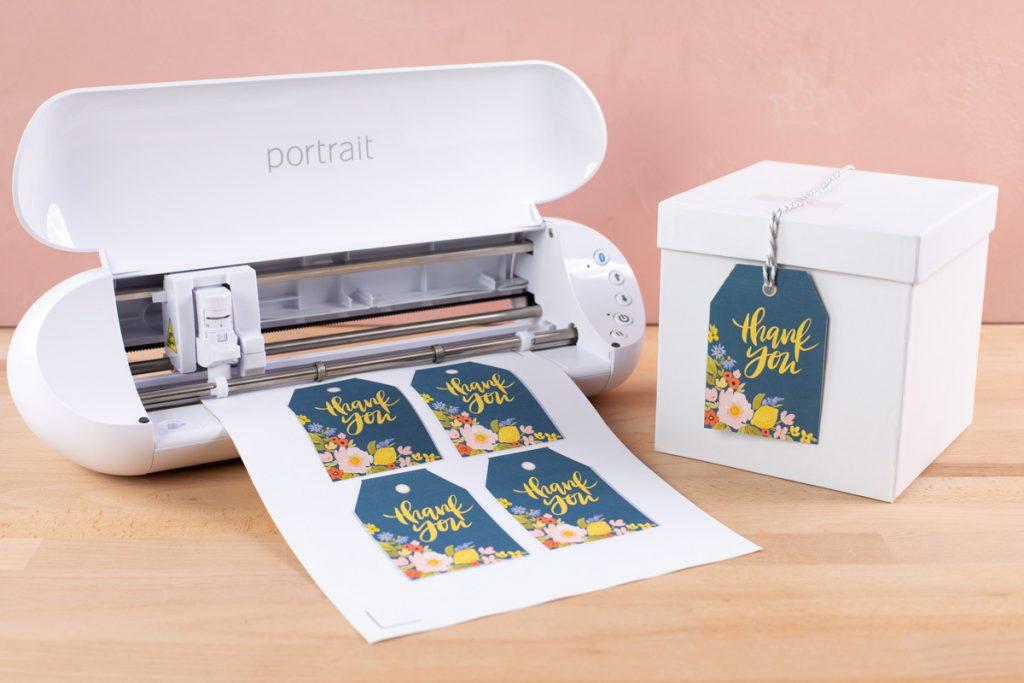 Silhouette Portrait für Etiketten, Aufkleber und kleine Textil Transfers