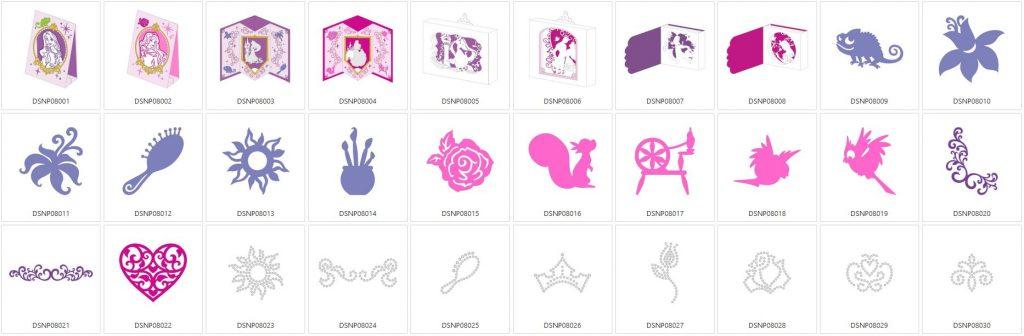 Rapunzel & Aurora - 30 Designs