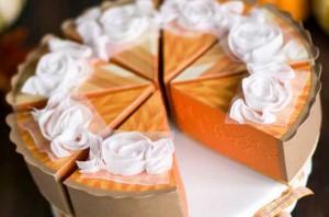 Kuchen aus Papier