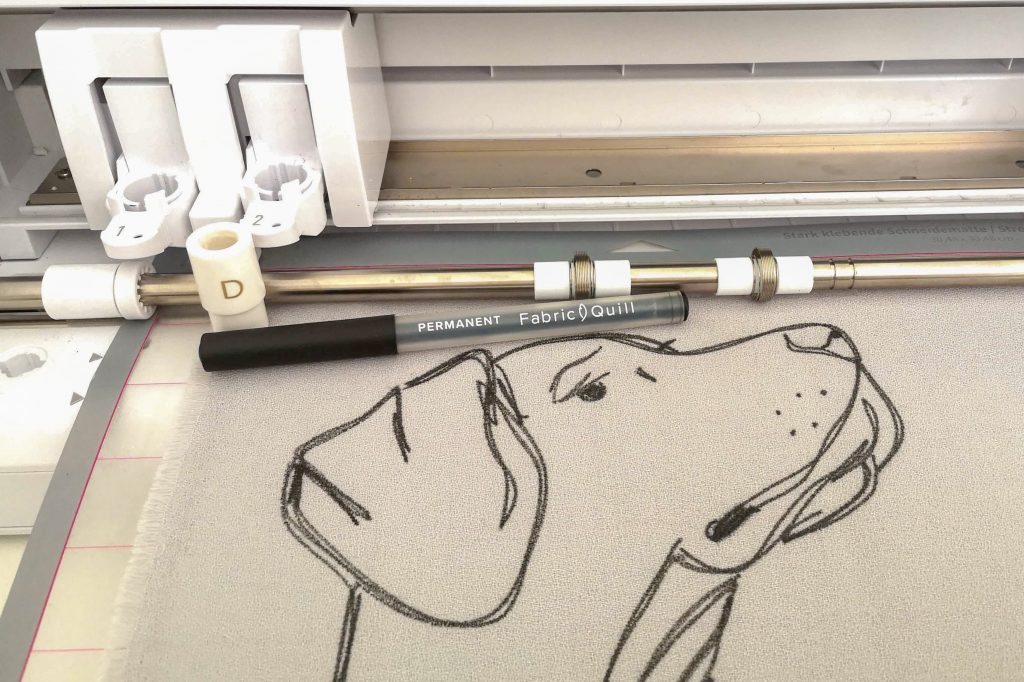 SILHOUETTE CAMEO 4 mit Fabric Quill Stift