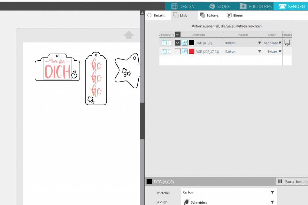 Silhouette Studio Funktionen zuweisen