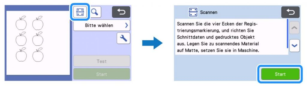 Scan-Symbol klicken