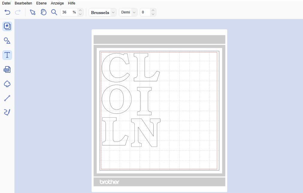 Buchstaben im CanvasWorkspace erstellen