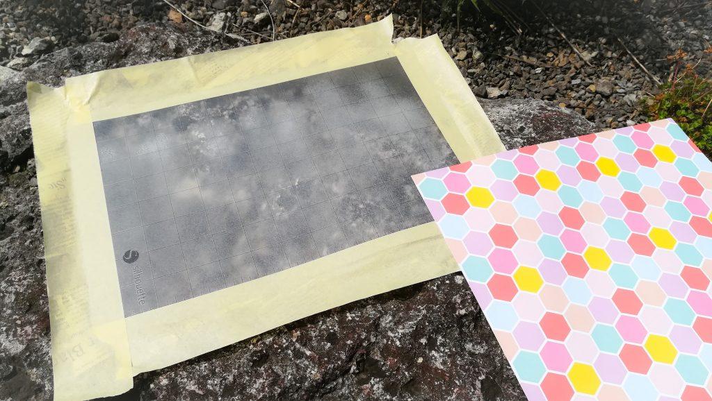 Material auf Silhouette Schneidematte testen