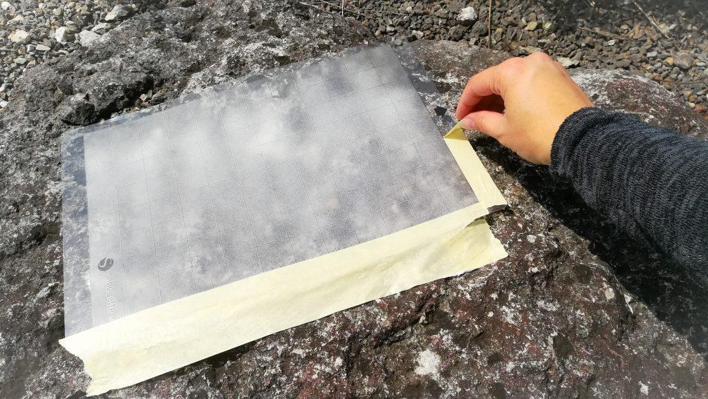 Silhouette Schneidematte - Klebestreifen entfernen