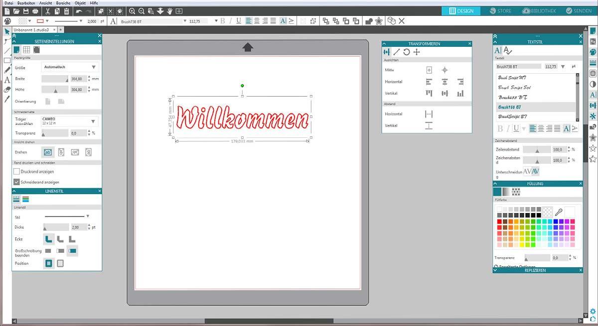 Silhouette Studio Gestaltungssoftware - hobbyplotter.de