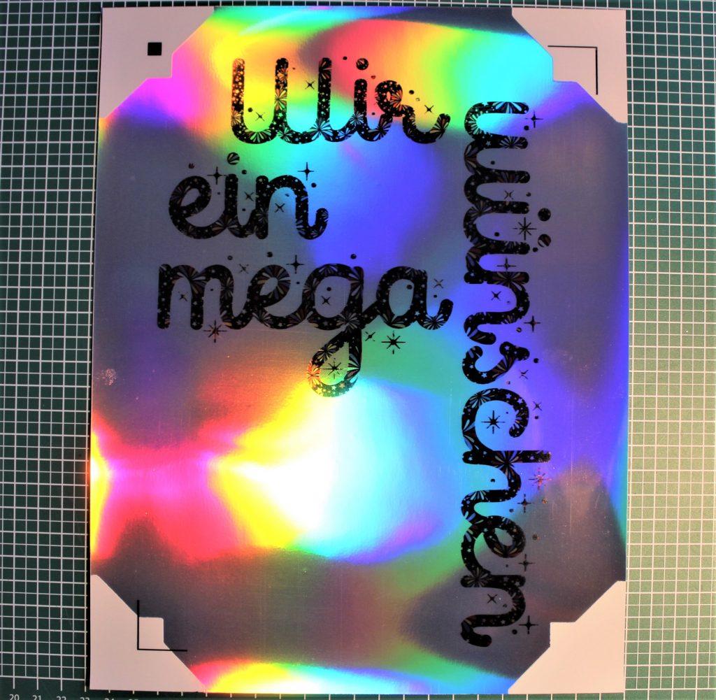 Design gedruckt
