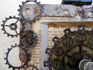 Blick auf mit dem Hobbyplotter SILHOUETTE Portrait geschnittenen Details