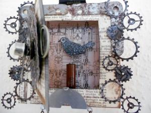 Ein Überblick über die mit dem Hobbyplotter SILJOUETTE Portrait geschnittenen Zahnräder der Kuckucksuhr