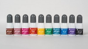 Die 10 zur Auswahl stehenden Farben für Ihren selbstgemachten Stempel