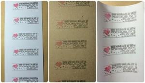 Stempeln auf Cardstock und Faux Leather Paper