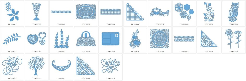 Tattered Lace 10 - 25 Designs