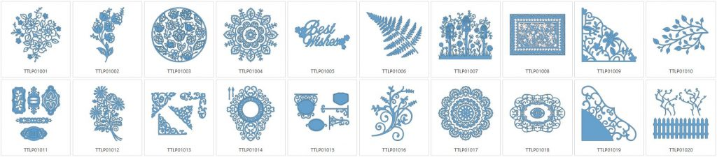 Tattered Lace 1 - 20 Designs