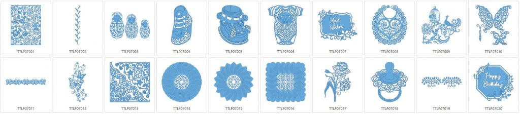 Tattered Lace 7 - 20 Designs