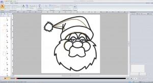 Weihnachtsmann um eigene Apllikationen herstellen zu können in PE-Design