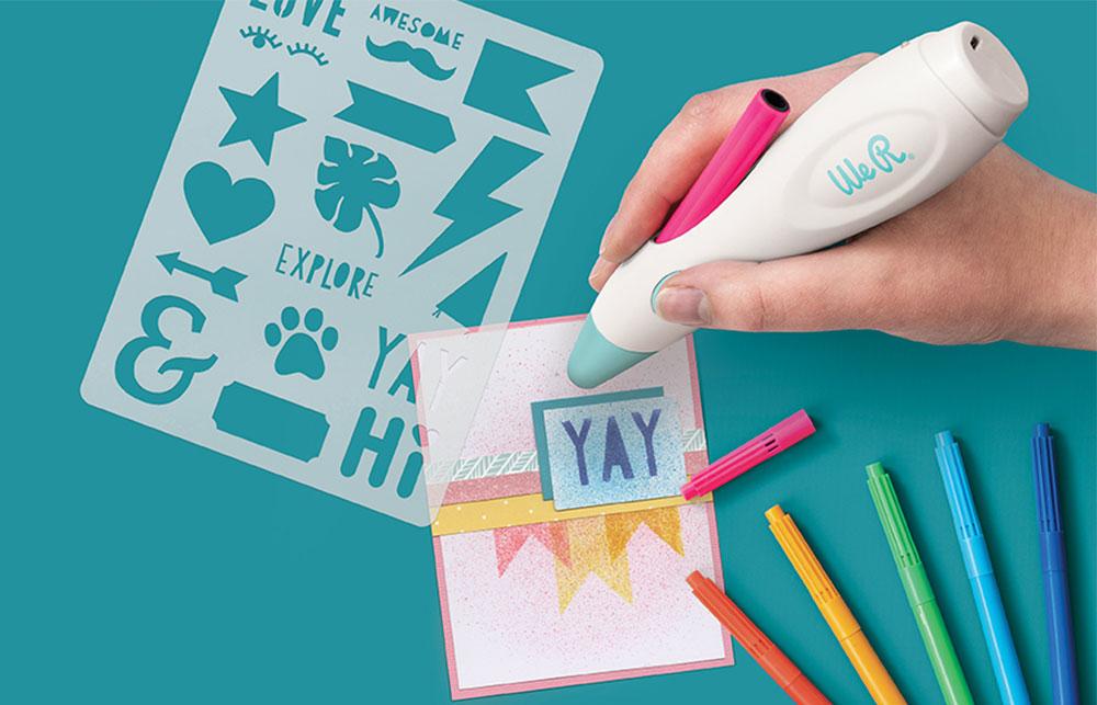 Mit dem neuen Airbrush Marker von We R Memory Keepers können Sie tolle Effekte erzielen.