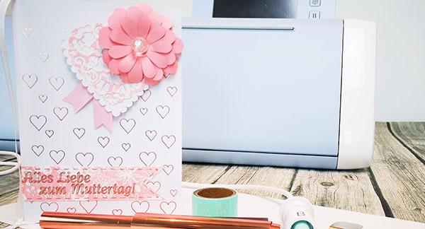 Schnelle Foil Quill Karte zum Muttertag