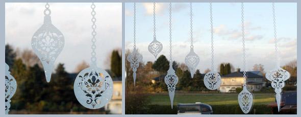 Christmas Ornamente mit Glasdekorfolie