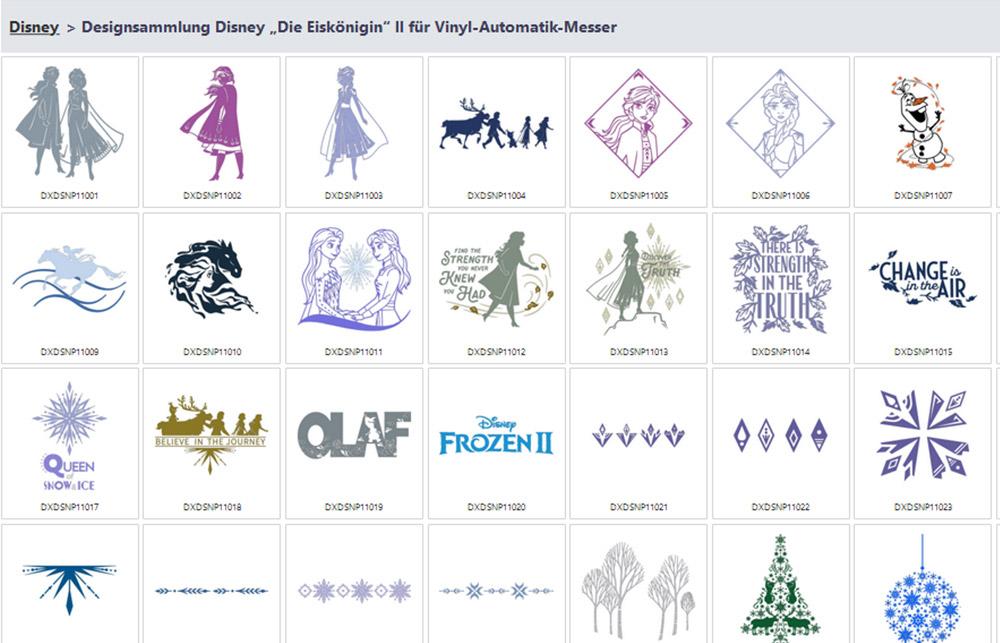 Im CanvasWorkspace haben Sie alle verfügbaren Mustersammlungen und deren Designs im Überblick.