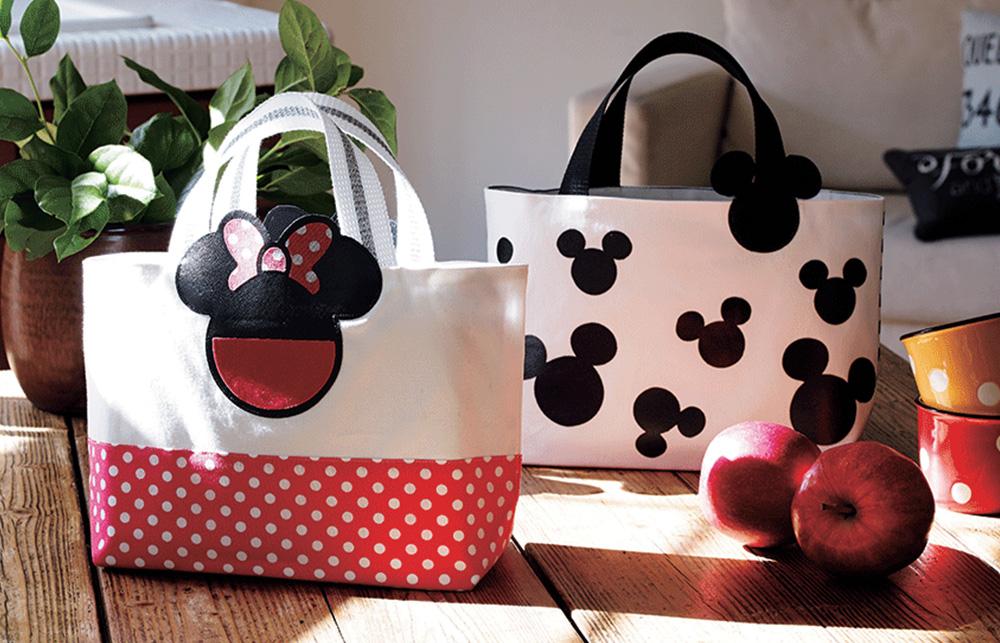 Mickey & Minnie Maus – Verwenden Sie die Motive aus den Brother Mustersammlungen für Ihre Projekte.