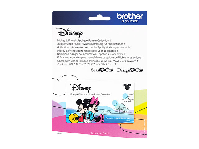 Mustersammlung Design Karte Mickey und Friends