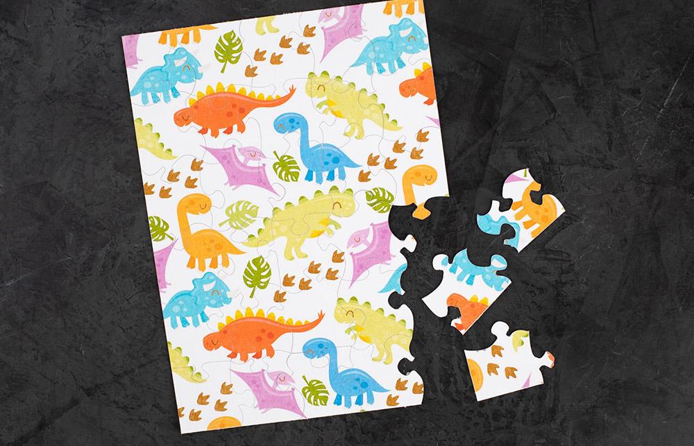 Mit dem richtigen Papier können Sie eigene Puzzle erstellen.