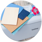 Entdecken Sie neue Möglichkeiten und Materialien die Sie mit der ScanNCut Serie verarbeiten können.