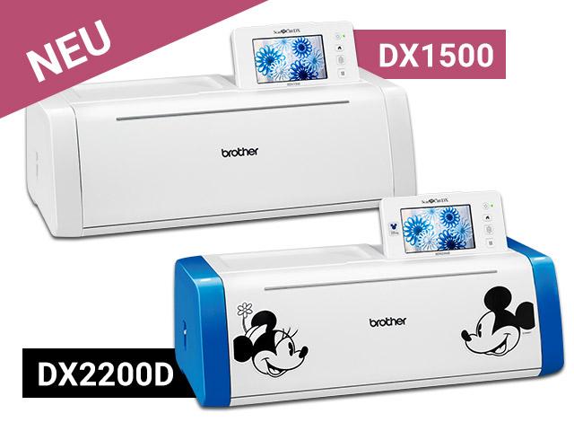 Die beiden neuen Hobbyplotter von Brother kommen mit vielen Extras – DX1500 & DX2200D