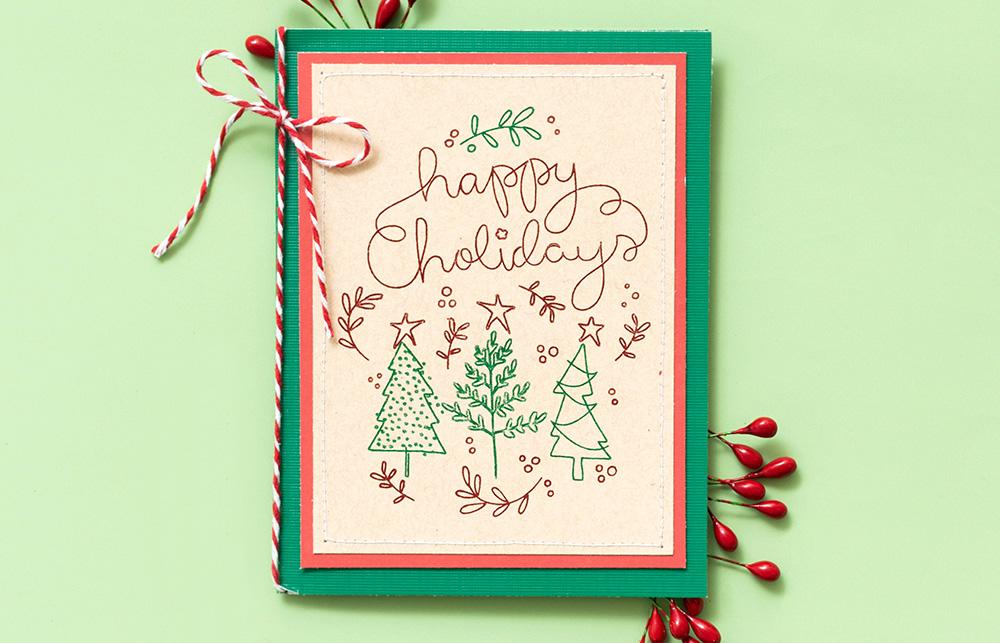 Weihnachtsgrüße schnell und einfach erstellen. Foil Quill hilft Ihnen auch dabei wenn es mal ein paar mehr Karten sein sollen.