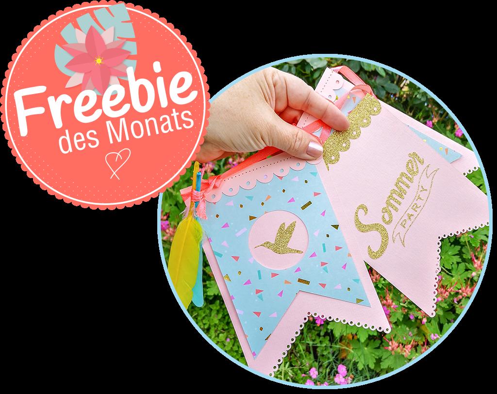 Das Freebie des Monats von hobbyplotter.de – sommerlich und frisch in den Juni