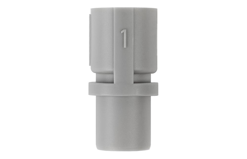 Mit dem grauen Adapter können Sie das ältere Tiefschnittmesser in ihrer SILHOUETTE CAMEO 4 verwenden.