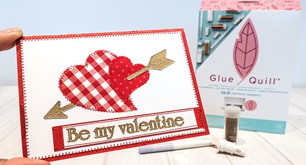 Glue Quill Karte zum Valentinstag